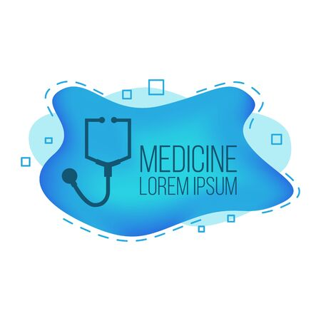 Modern medicine banner. Vector health care card concept for design