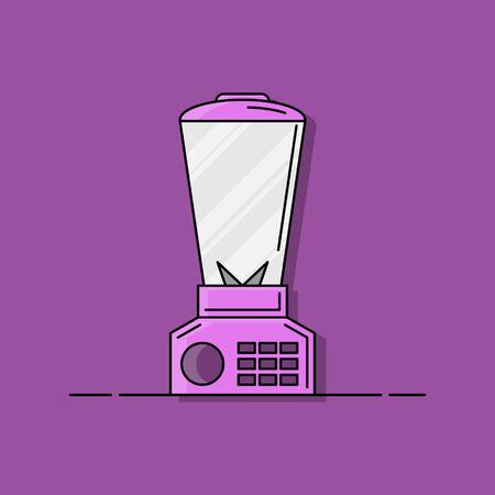 blender flat illustration. Vector bright concept for design and web. Stok Fotoğraf - 134808142