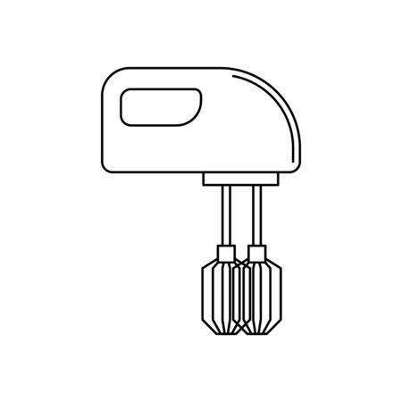 Mixer outline illustration. Vector kitchen tool icon for design and web.