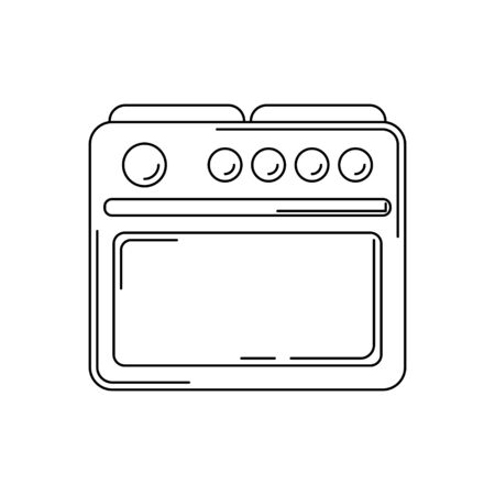 stove line icon. kitchen tool illustration for design and web. Çizim