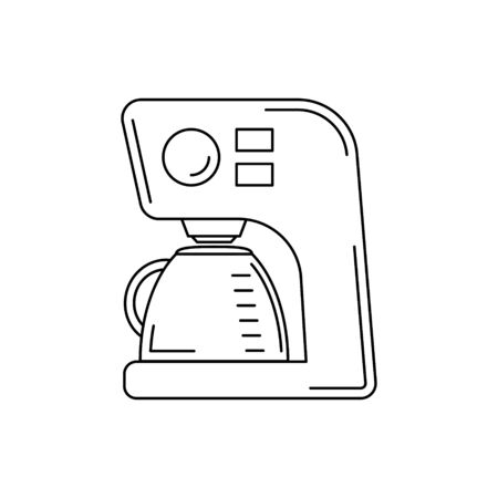 coffee machine line icon. kitchen tool illustration for design and web. Çizim