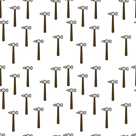 Instruments seamless pattern. tools illustration for design and web.