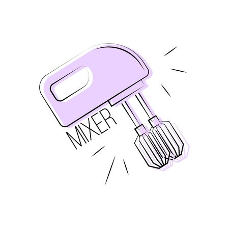 Mixer vector icon. Vector kitchen tool element for your design.