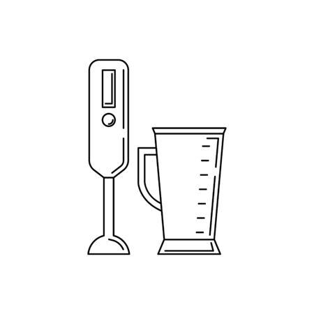 Blender line icon. Vector kitchen tool illustration for design and web.