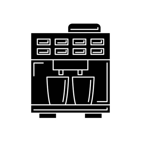 coffee machine silhouette. kitchen tool illustration for design and web.