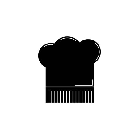 chef hat silhouette. kitchen tool illustration for design and web.