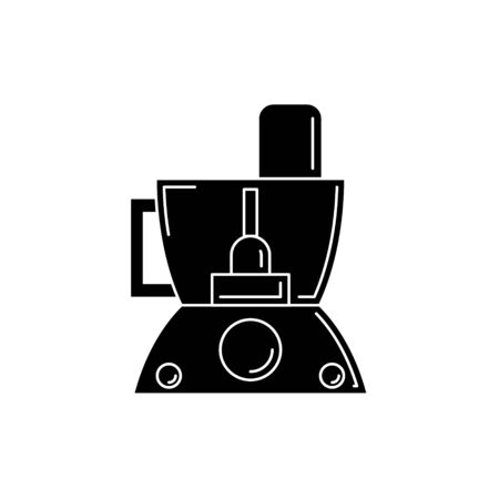cooking processor silhouette. Vector kitchen tool illustration for design and web.