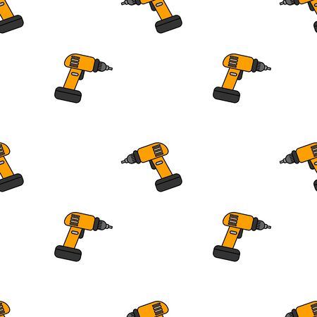 Instruments seamless pattern. Vector tools illustration for design and web. Ilustracja