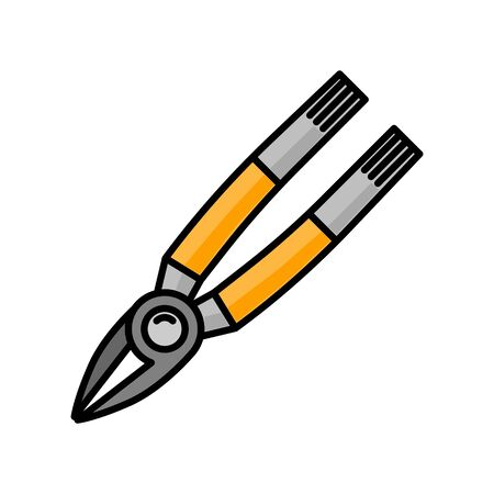 pliers flat illustration. Vector icon for design and web.