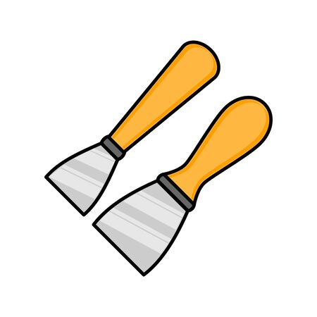 spatula flat illustration. Vector icon for design and web. Çizim