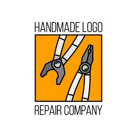 Repair and tools vector flat logo design for your design and web.