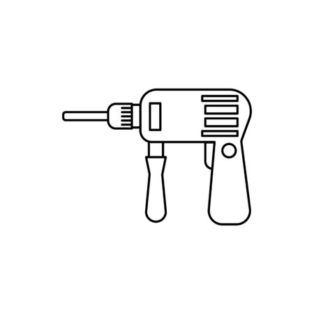 drill outline icon. Vector illustration for design and web. Çizim