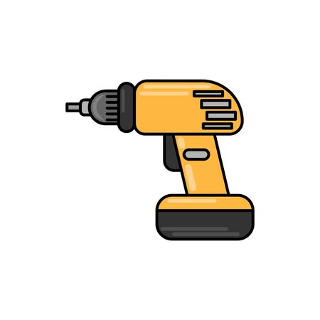drill flat illustration. Vector icon for design and web.