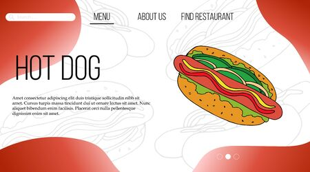 Fast food web site template. landing page design for website and mobile site. Stok Fotoğraf - 137492942
