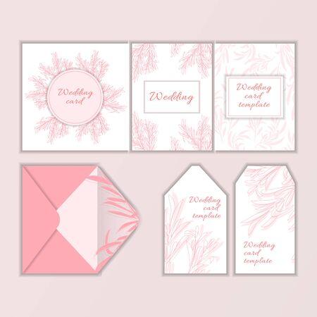 Wedding card template. Modern illustration for design and web. Stok Fotoğraf - 137876035