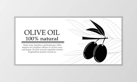 Vector olive oil banner template. Modern illustration for design and web. Stok Fotoğraf - 137879997