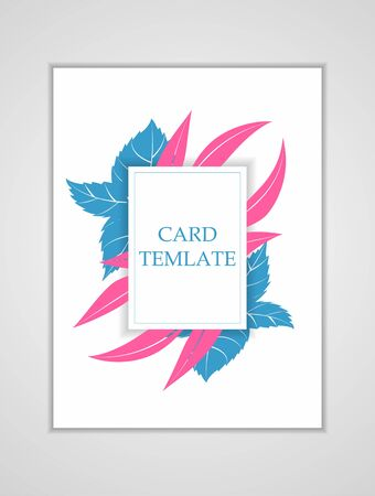 Bright card template. Modern illustration for design and web. Standard-Bild - 139696925