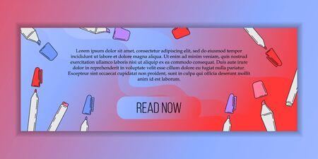 Vector education courses banner concept. Modern illustration for design and web. Stok Fotoğraf - 137884657