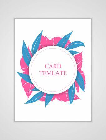 Bright card template. Modern illustration for design and web. Standard-Bild - 139696928