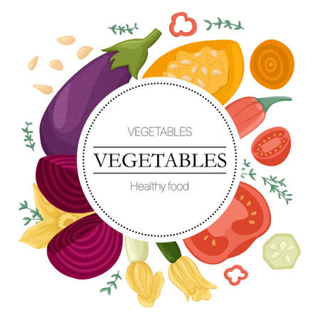 vegetables, tomatoes, avocado, bell peppers, zucchini, pumpkin, eggplants, beetroot round background.