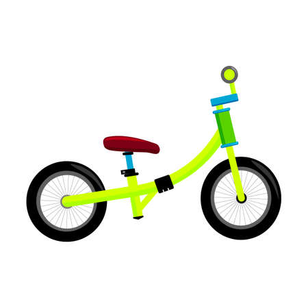 Balance bike for kids. Simple flat illustration.