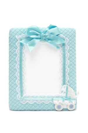 Fabric photo frame for new born male photo