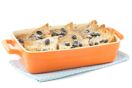 pudding: Traditional bread and butter pudding Stock Photo