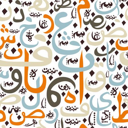modelo ornamento sin fisuras caligrafía árabe de texto concepto de Eid Mubarak para el festival de la comunidad musulmana de Eid Al FitrEid Mubarak Ilustración de vector