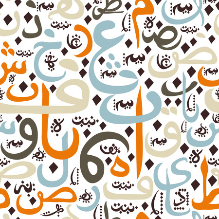 seamless pattern ornament Arabic calligraphy of text Eid Mubarak concept for muslim community festival Eid Al FitrEid Mubarak