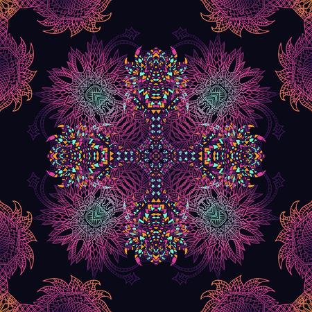 latin american: aztec geometric seamless pattern. Background with a Latin American ornament Illustration
