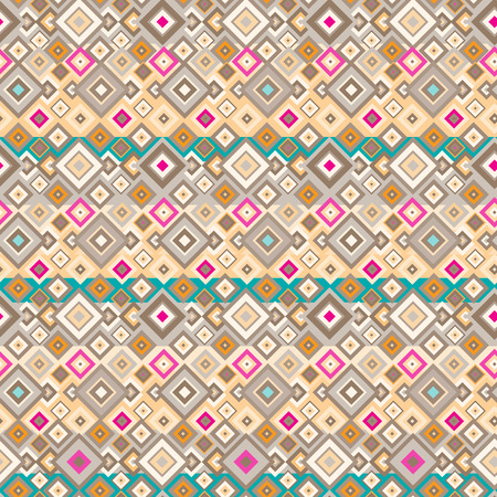 Seamless hippie pattern with geometric elements Stock Vector - 43957281