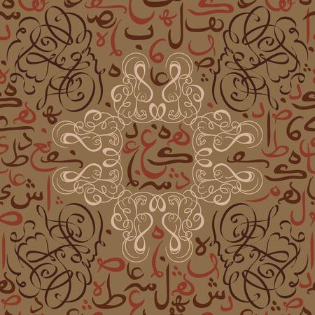 naadloos patroon ornament Arabische kalligrafie van tekst Eid Mubarak concept voor de moslimgemeenschap festival Eid Al Fitr Eid Mubarak Stock Illustratie