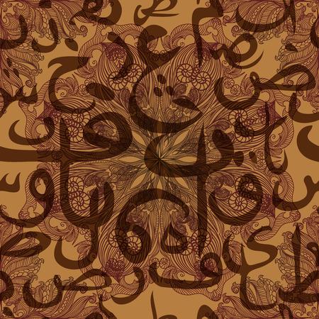 arabische letters: naadloos patroon ornament Arabische kalligrafie van tekst Eid Mubarak concept voor de islamitische gemeenschap festival Eid Al FitrEid Mubarak Stock Illustratie