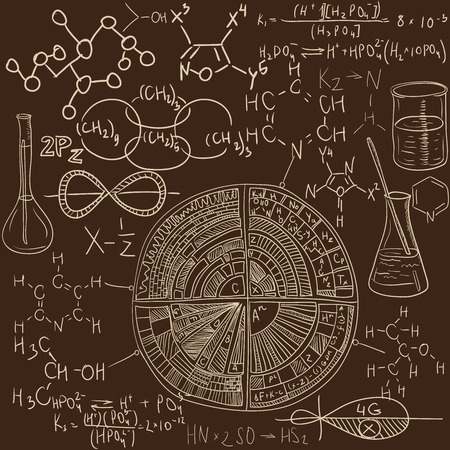 古い化学研究所シームレス パターン ヴィンテージ ベクトル