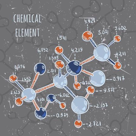 Vecteur de laboratoire de chimie de la science avec grunge Banque d'images - 43922171