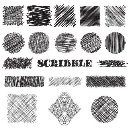 フリーハンド ブラシのベクトルを設定します。インク線、手描きのテクスチャのセット、ペン、孵化、スクラッチの落書き集 写真素材 - 43922180