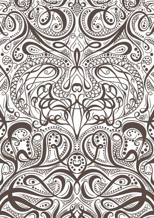 飾りパターン トランプやカリグラフィの装飾的な要素の背景を持つ本をカバーします。ヴィンテージの花の手描きイラスト。アラビア語 Motif.Retro バ  イラスト・ベクター素材