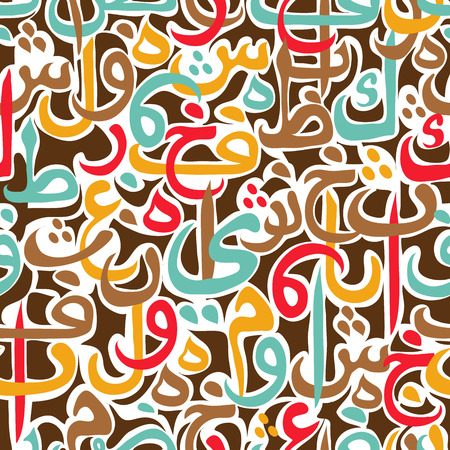 vector ornaments: seamless pattern ornament Arabic calligraphy of text Eid Mubarak concept for muslim community festival Eid Al FitrEid Mubarak