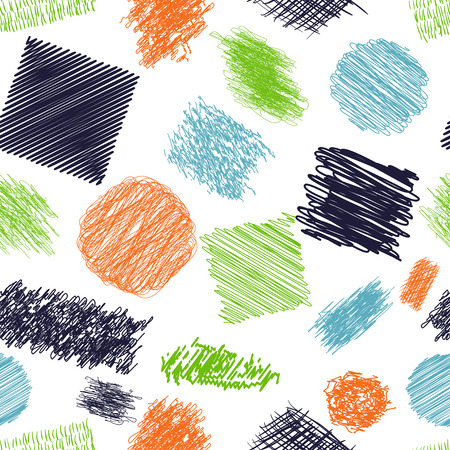 scribble: Seamless pattern with scribble brushes.