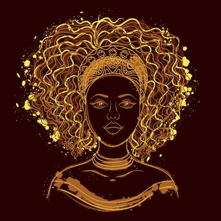 아프리카 여자의 초상화입니다. 스톡 콘텐츠 - 63173453