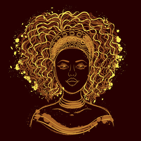 Portrait of African woman.