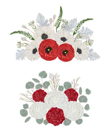 Decorative holiday bouquets set