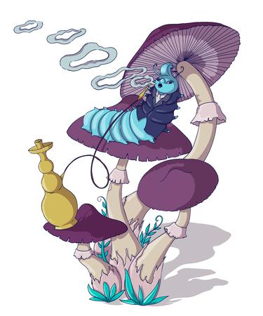 Fairytale wonderland illustration.