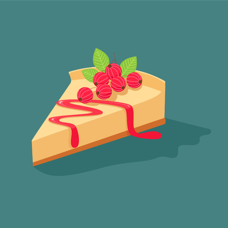 cheesecake: Cheesecake with currants Illustration
