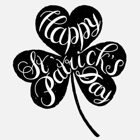 patrick s: St. Patrick s Day greeting. Vector illustration.Happy St. Patrick s Day Vector.Isolated vector clover. Good Luck Unique Hand Written Calligraphy. Luck of the Irish.Hand lettering.