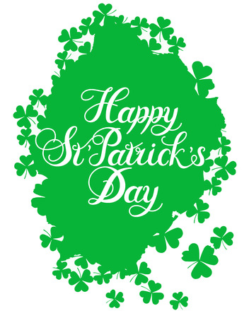 good s: St. Patrick s Day greeting. Vector illustration.Happy St. Patrick s Day Vector.Isolated vector clover. Good Luck Unique Hand Written Calligraphy. Luck of the Irish.Hand lettering.