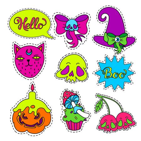 Cartoon badge,sticker. Illustration