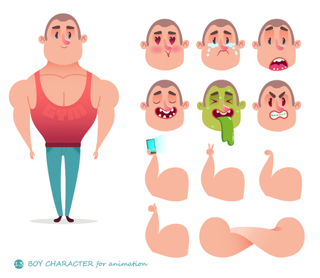 character athlete body-builder Illustration
