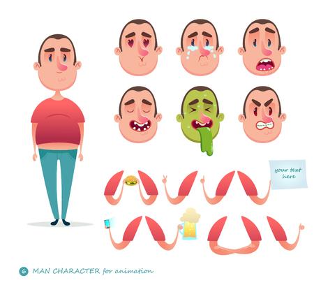 Boy emoji face icons and symbols. Illustration