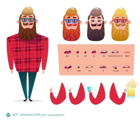 character speaks animations Hipster beard